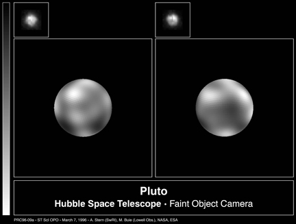 Pluto Seen from the HST