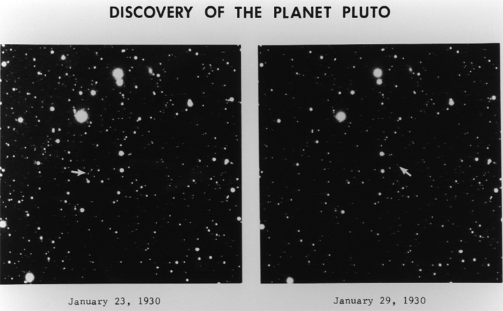 Original Pluto Discovery Images from 1930